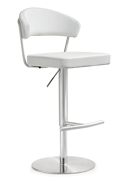 Bar Furniture Bar Chairs Conscientious Industrial Chic Metal Round Seat Adjustable Height Bar Stool With Curve Backrest