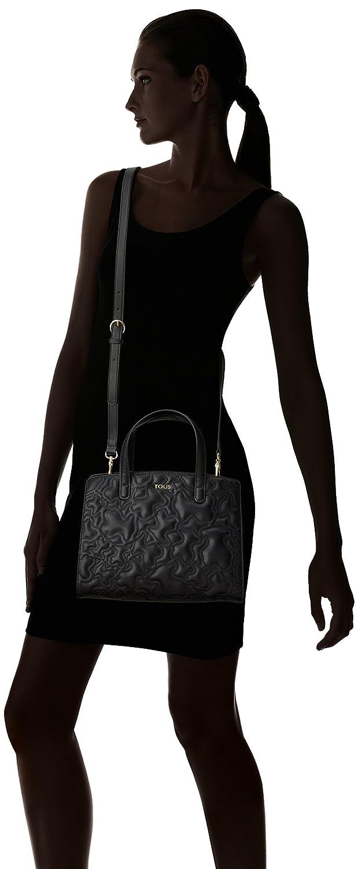 Bowling Mediano Kaos Capitone, Womens Bag, Negro (Black), 14x22x29 cm (W x H L) Tous