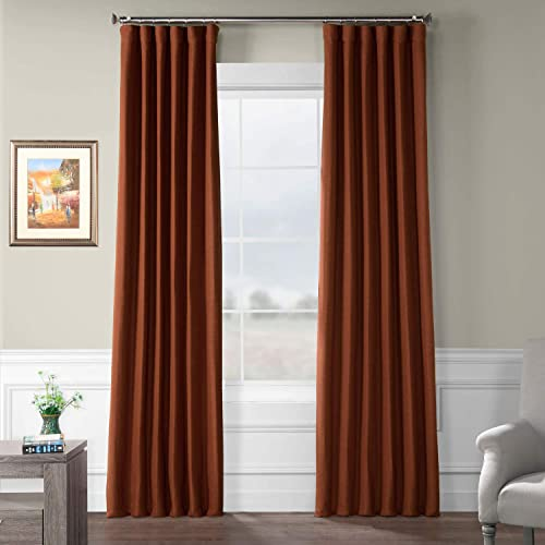 HPD HALF PRICE DRAPES BOCH-PL1903-120 Bellino Blackout Room Darkening Curtain 50 X 120,Warm Ember