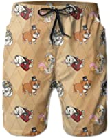 Fancy English Bulldogs Cute Animal Men's Beach Shorts