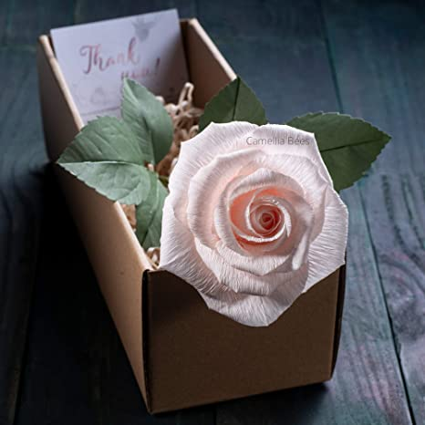 1st Anniversary Paper Anniversary Grow Old with Me Paper Flower Rose LG SINGLE BLOOM Valentine/'s Day Gift Wedding Anniversary Gift