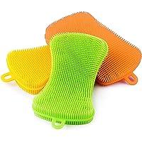 Silicone Sponge Dish Washing Scrubber, Kitchen Silicone Scrubber Kitchen Sponge Dish Sponges Washing Gadgets Tools Brush…