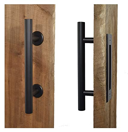 Hetai Sliding Door Pulls Handle For Barn Door Pull And Flush Door Handle  Set Sliding Barn