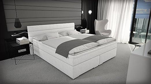 Letto Matrimoniale Di Design In Ecopelle.Letto Contenitore Con Base A Molle 180 X 200 Cm Letto