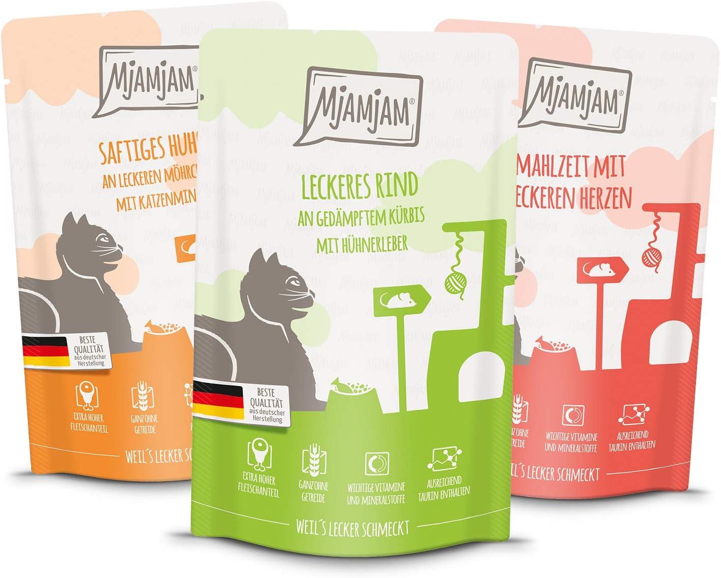 MjAMjAM Natural Wet Cat Food Snackbox para Gatos, 125 G, 1,5 kg, 1500