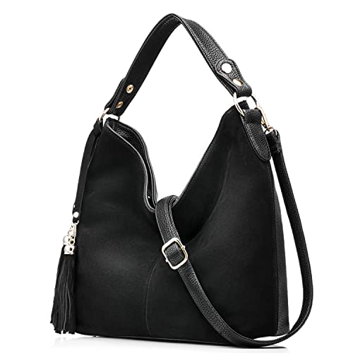 Realer New Design Women Tote Leather Purse Crossbody Bag Black ... 30b8ebad5f