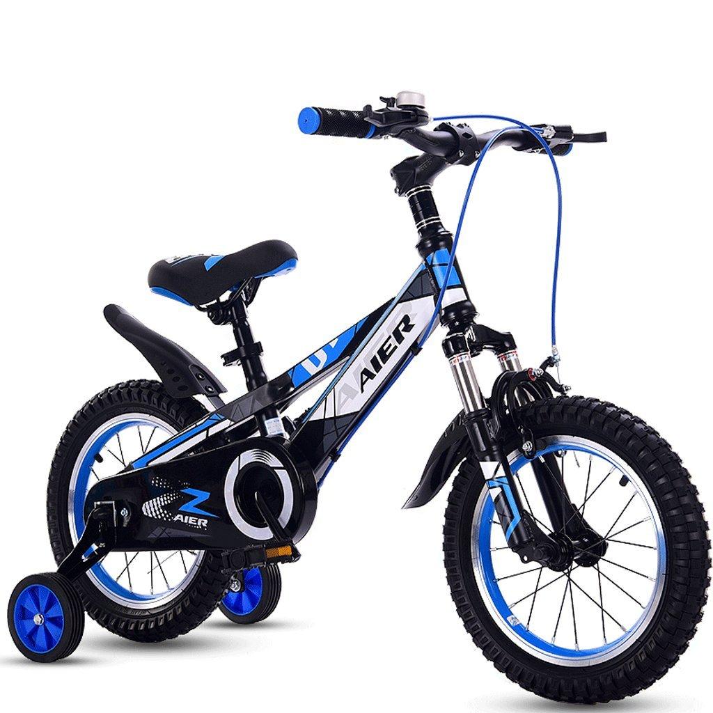 DGF 子供と自転車用の子供用自転車2-10小型自転車12/14/16/18インチマウンテンバイク (色 : 青, サイズ さいず : 16 inches) B07F1MY578 16 inches|青 青 16 inches