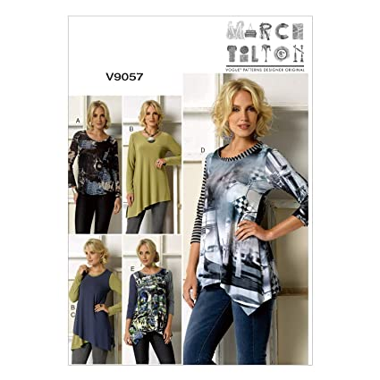 a0bec37f Amazon.com: Vogue Patterns V9057ZZ0 V9057 Misses' Top Sewing ...