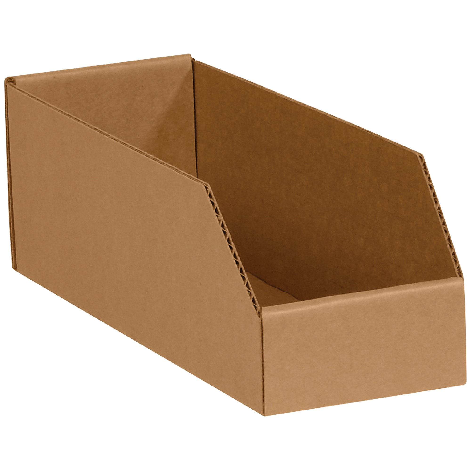 Aviditi Open Top Bin Boxes, 4'' x 12'' x 4-1/2'', Kraft, Pack of 50 (BINMT412K) by Aviditi