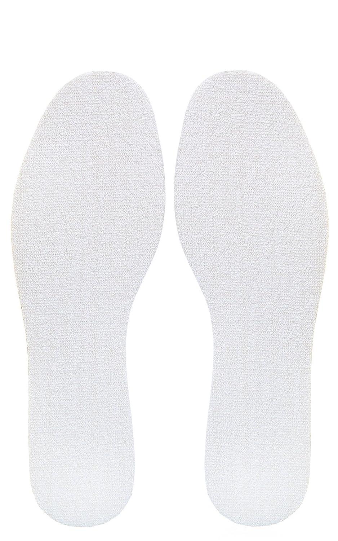 Kaps Plantillas Frotte - Plantillas de RIZO Higiénico Que absorben el Sudor, Color Blanco, Talla 46 EU Hombre
