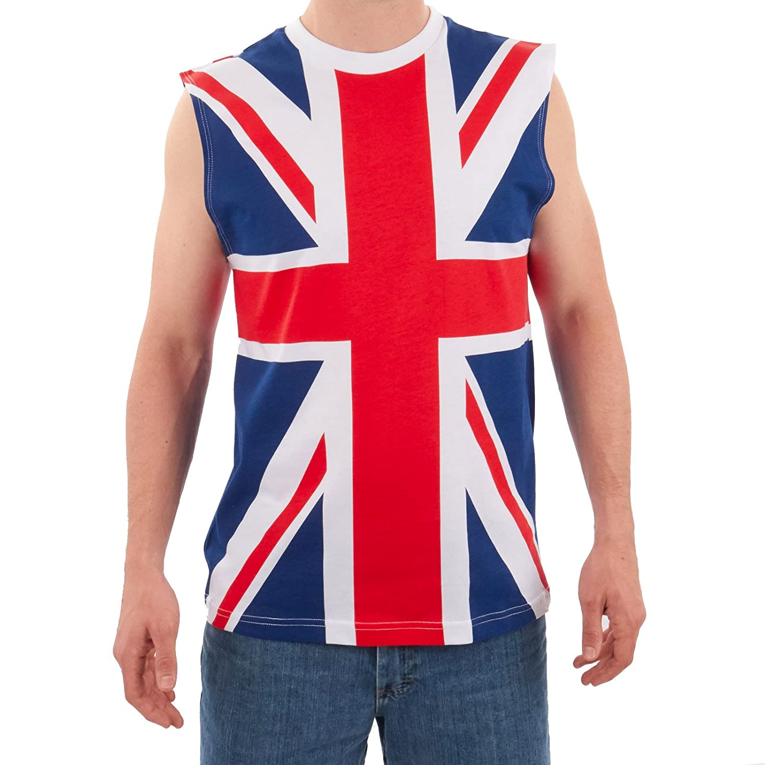 Adult Men's British Flag Tank Multicolor