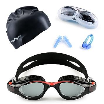 a719124b64d Mee sport Kids Swim Goggle Set With Anti Fog UV Protection Swimming Goggles  Swim Cap
