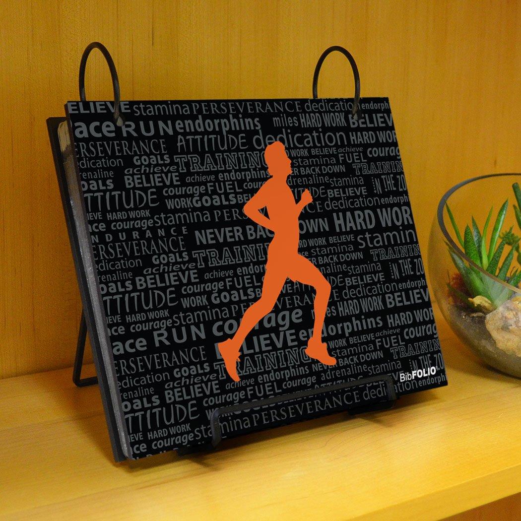 Gone For a Run BibFOLIO Race Bib Album | Bib Holder Running Inspiration Male | Black/Orange by Gone For a Run (Image #6)