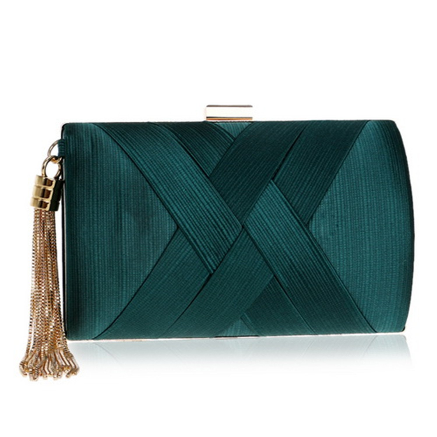 Metal Tassel Lady Clutch Bag With Chain Shoulder Handbags Classical Style Small Purse Clutch Bags
