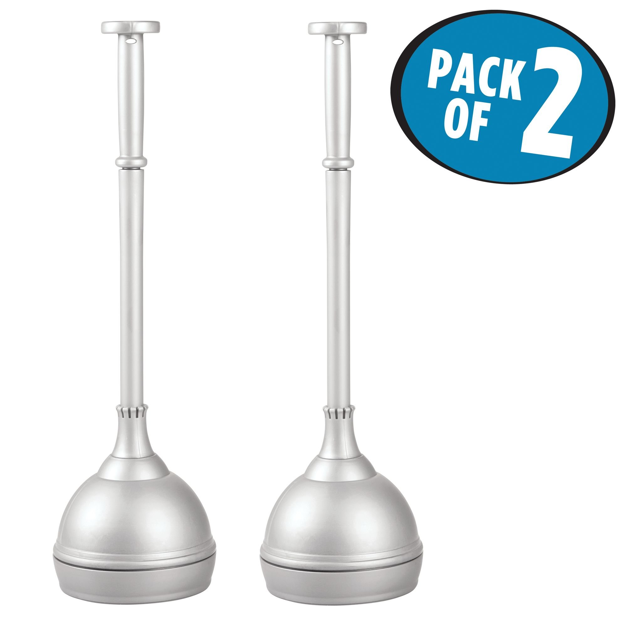 pack Bathroom Toilet Plunger with Cover by iDesign 2