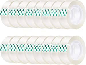 Favourde Transparent Tape Clear Tape 3/4 inches Tape Refill Roll for Office, Home, School (80)