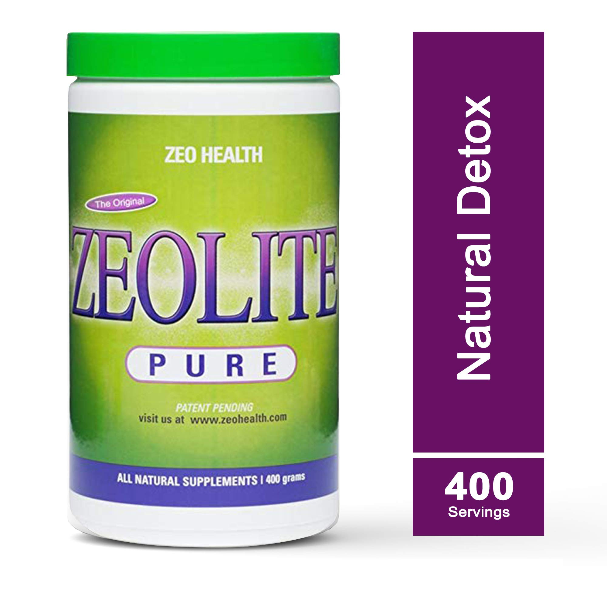 ZEOLITE PURE | Full Body Detox Cleanse | Safe, Gentle, & Effective Energy Booster that Supports Gut Health, Mental Clarity, & Healthy Inflammation Response| Original Zeolite Powder (400 Servings) by ZEOLITE PURE (Image #1)