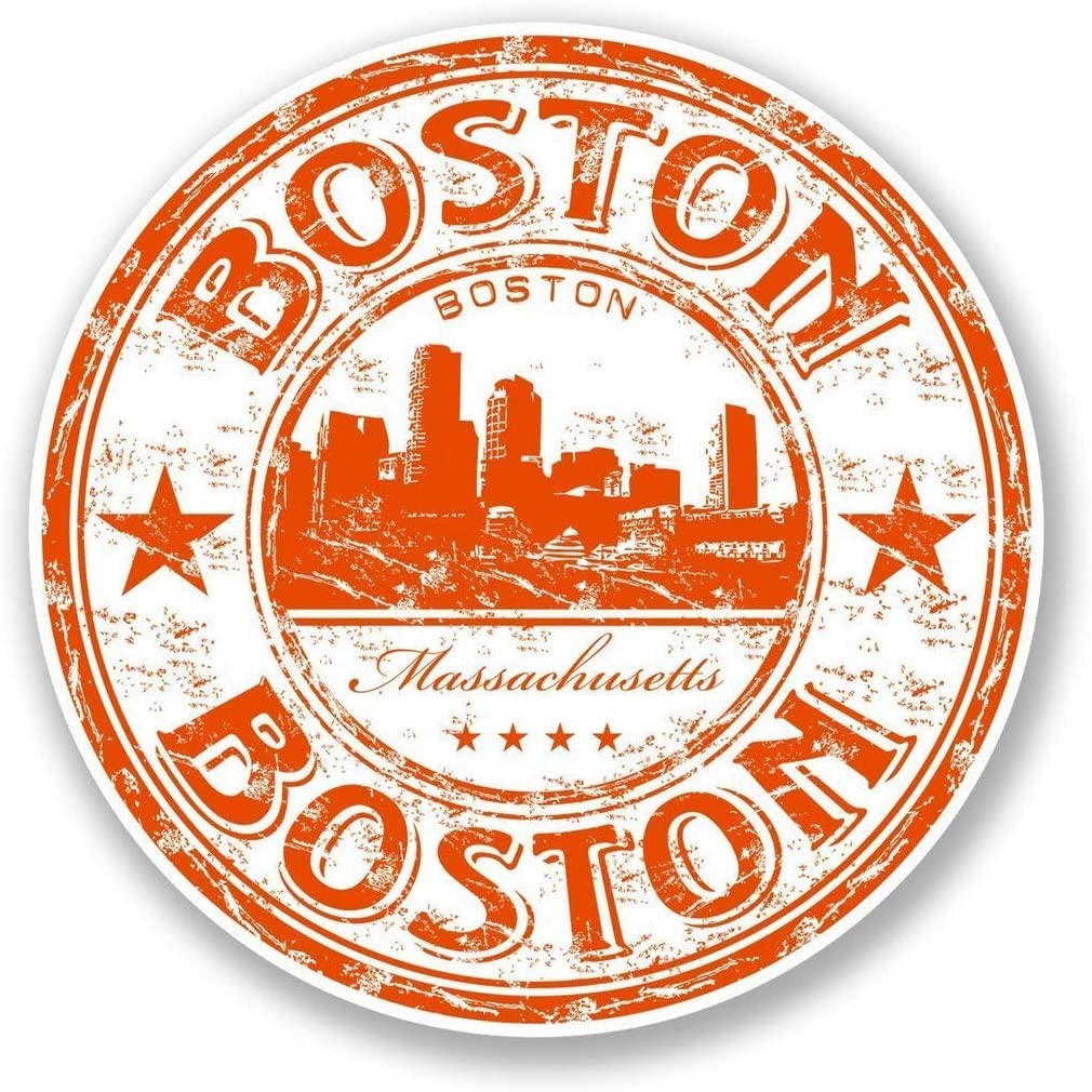Boston Massachusetts USA Vinyl Sticker Decal Laptop Car Bumper Sticker Travel Luggage Car iPad Sign Fun 5