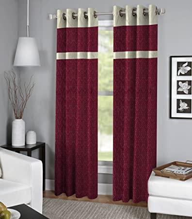 Buy Ultimate Home Decor The Kraft Designer Curtains set of 2