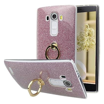 Funda LG G4 Silicona, Carcasa LG G4 Fina, Moon mood® 2 en 1 Brillante Caso de Gel TPU Silicona Trasero Caso + Papel Brillar Desmontable Híbrido Case ...