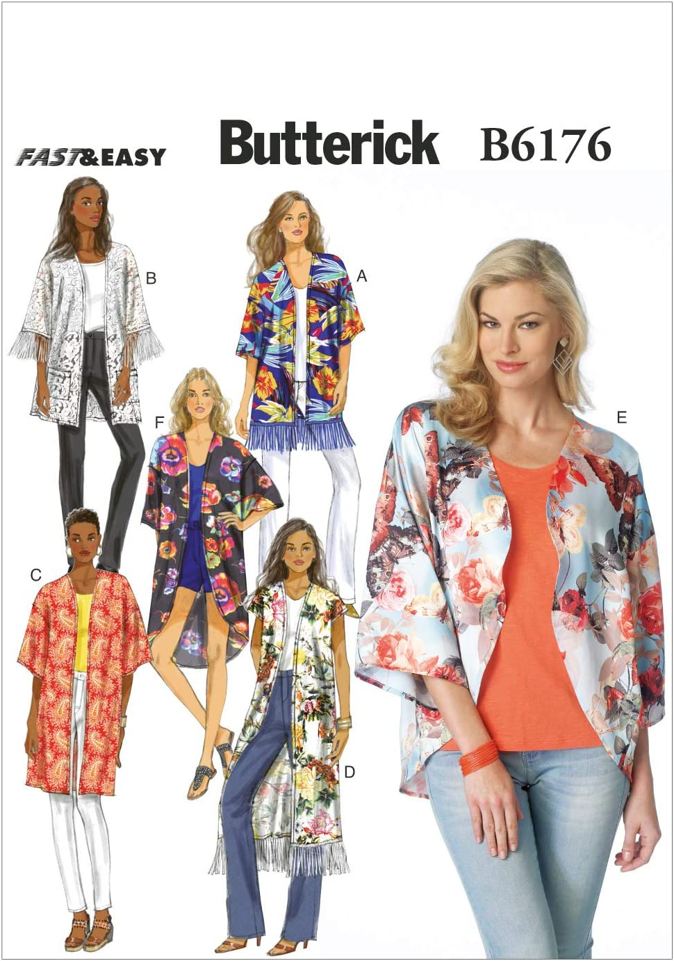 Easy Stretch Knit Pullover Top Dress Butterfly Sleeve Sewing Pattern Sz XS S M