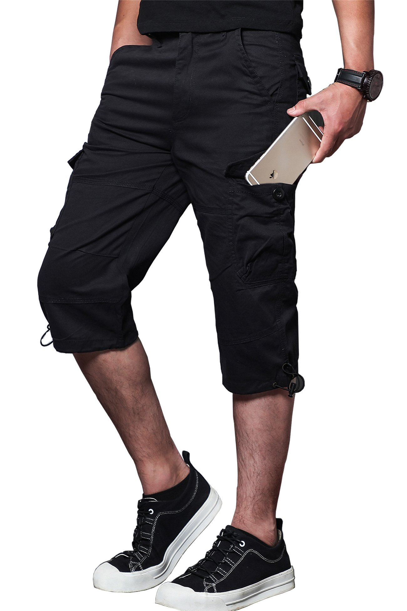 M Society Cargo Shorts Tactical Cargo Shorts Flex Cargo Shorts for Men with Multi-Pocket