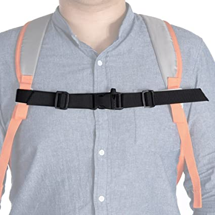 "Sternum strap adjustable fits most Backpacks,1/"" wide chest strap Made in USA."