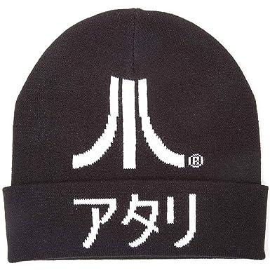 61a9dadde72 Amazon.com  Atari Beanie Hat Japanese Logo and Kanji Gamer Official ...