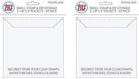"SS-5003 Avery Elle Stamp /& Die Storage Pockets 50//Pkg-Small 5/""X5/"""