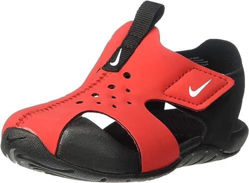 diseño atemporal sensación cómoda minorista online Amazon.com | Nike Sunray Protect 2 Sandal Kids Red/Black 943827 ...