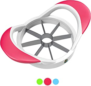 BBH Apple Slicer, Corer, Cutter with 8 Stainless Steel Blades and an Easy Grip, Dish-washer Safe and Rust-Free (Red)