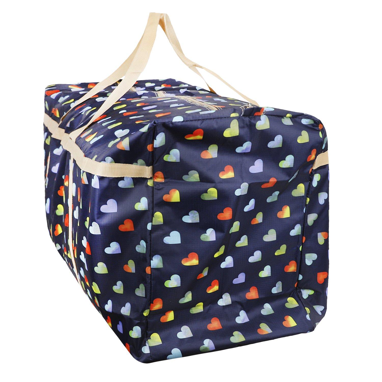 Travel Luggage Moving Bag Under Bed Storage Weekender Bag Shoulder Bag Tote Weekend Gym Duffel Bag Overnight Carry on Bag Travelling Bag College Carrying Camping Bag for Xmas Festival Decorations