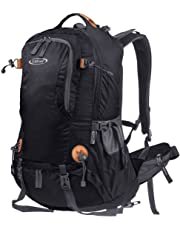 G4Free 45L Outdoor Sports Backpack Camping Hiking Waterproof Rucksack Mountaineering Bag withRainCoverforTravelingTrekking