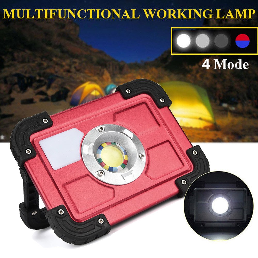 30W COB LED Rechargeable Flood Light Spot Work Camping Fishing Outdoor Lawn Lamp by Dressffe by Dressffe (Image #7)