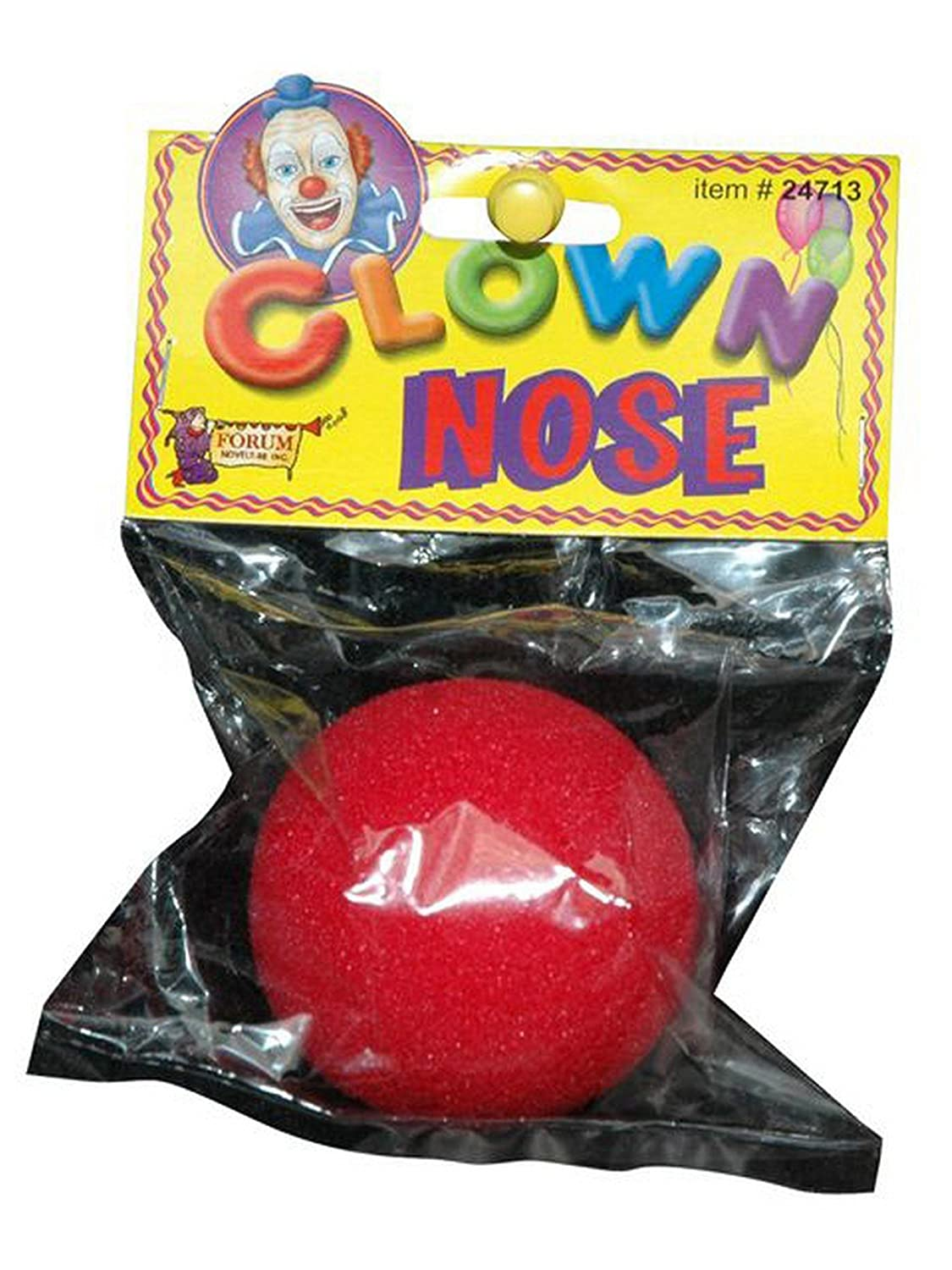 Forum Novelties Inc......... Clown Nose Red One Size 24713