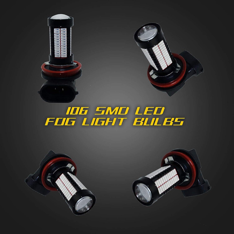 YaaGoo 9005 purple LED DRL Driving Fog Light,Replacement of Halogen,360 degree super bright,106pcs LED bulbs