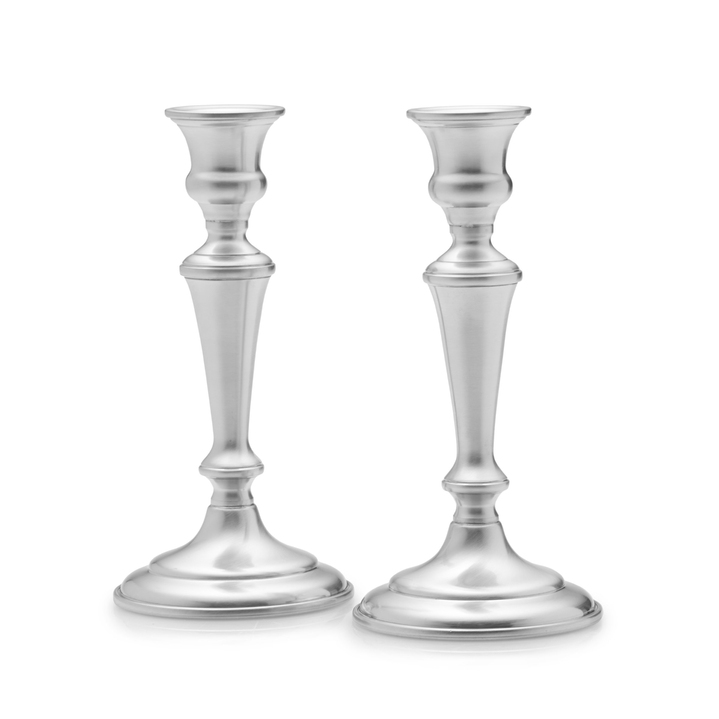 Empire Pewter Candlestick Holder, 8-Inch, Set of 2