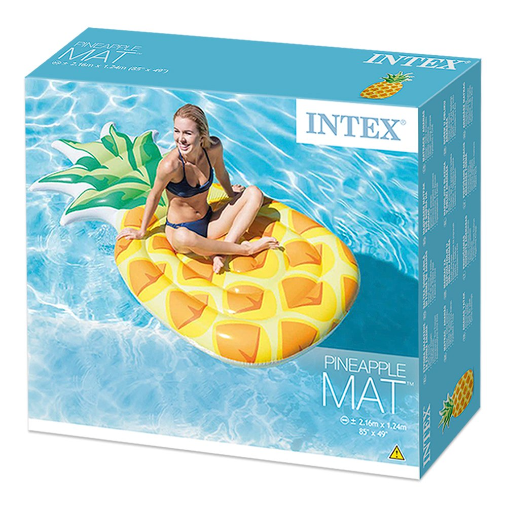 Intex 58761EU - Colchoneta hinchable Piña 124 x 216 cm: Amazon.es ...