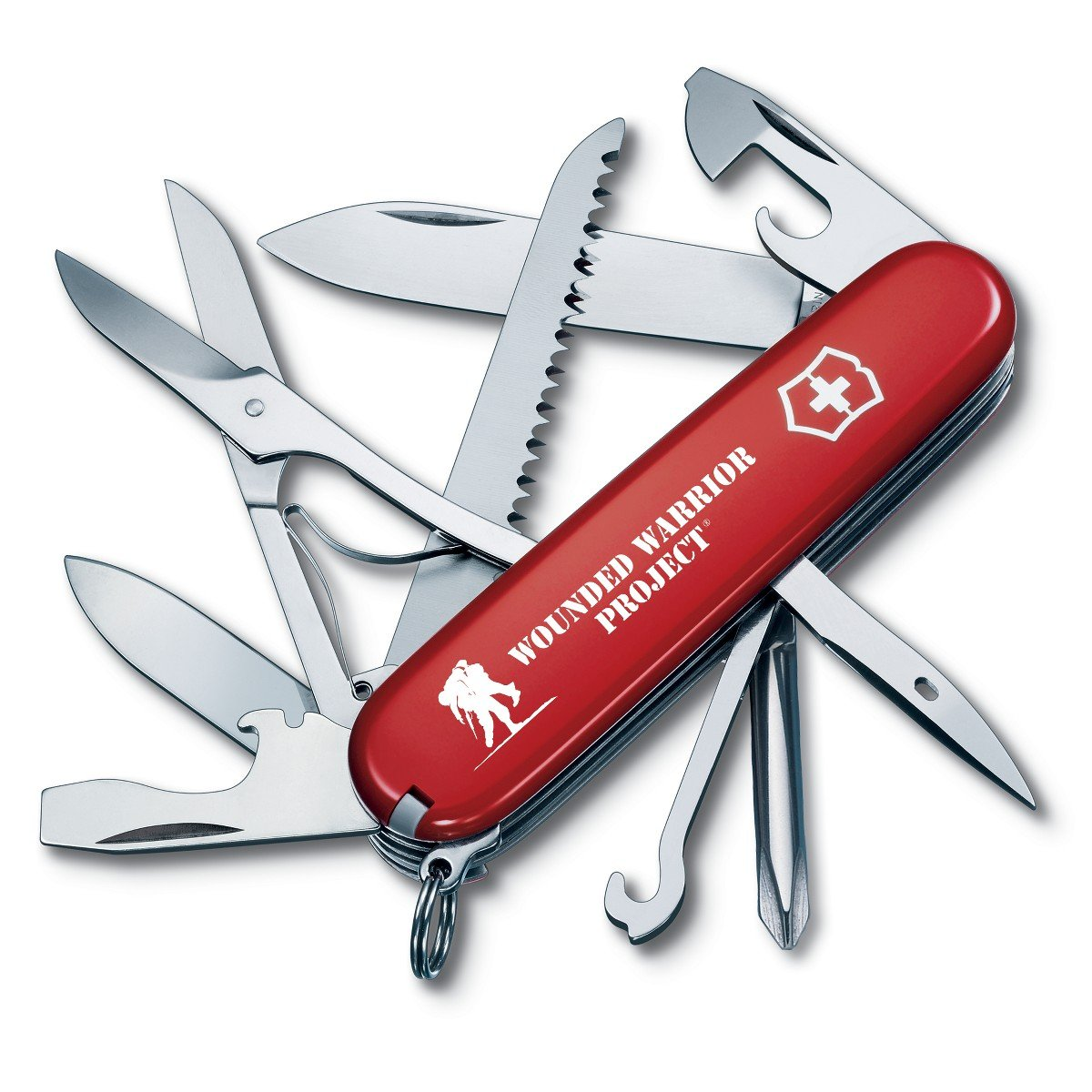 Victorinox Swiss Army Fieldmaster Pocket Knife 55074.US2, Wounded Warrior Project Collection, Red with WWP Logo