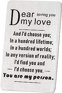 """Tarjeta de aniversario con texto en inglés """"You Are My"""