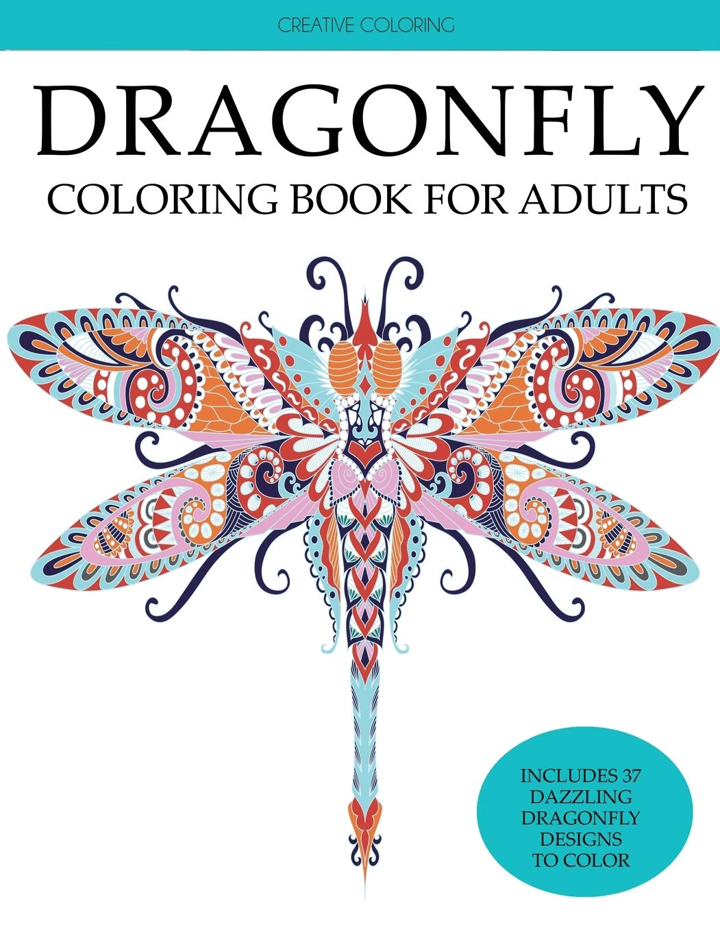 Dragonfly Coloring Book Adults Dragonflies product image