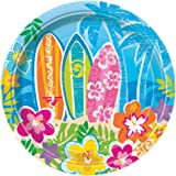 18cm Hawaiian Beach Party Plates, Pack of 8