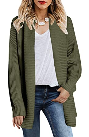 887abb64c9e Inorin Womens Oversized Cardigan Sweaters Open Front Cable Lapel Chunky  Long Sleeve Fall Pullover