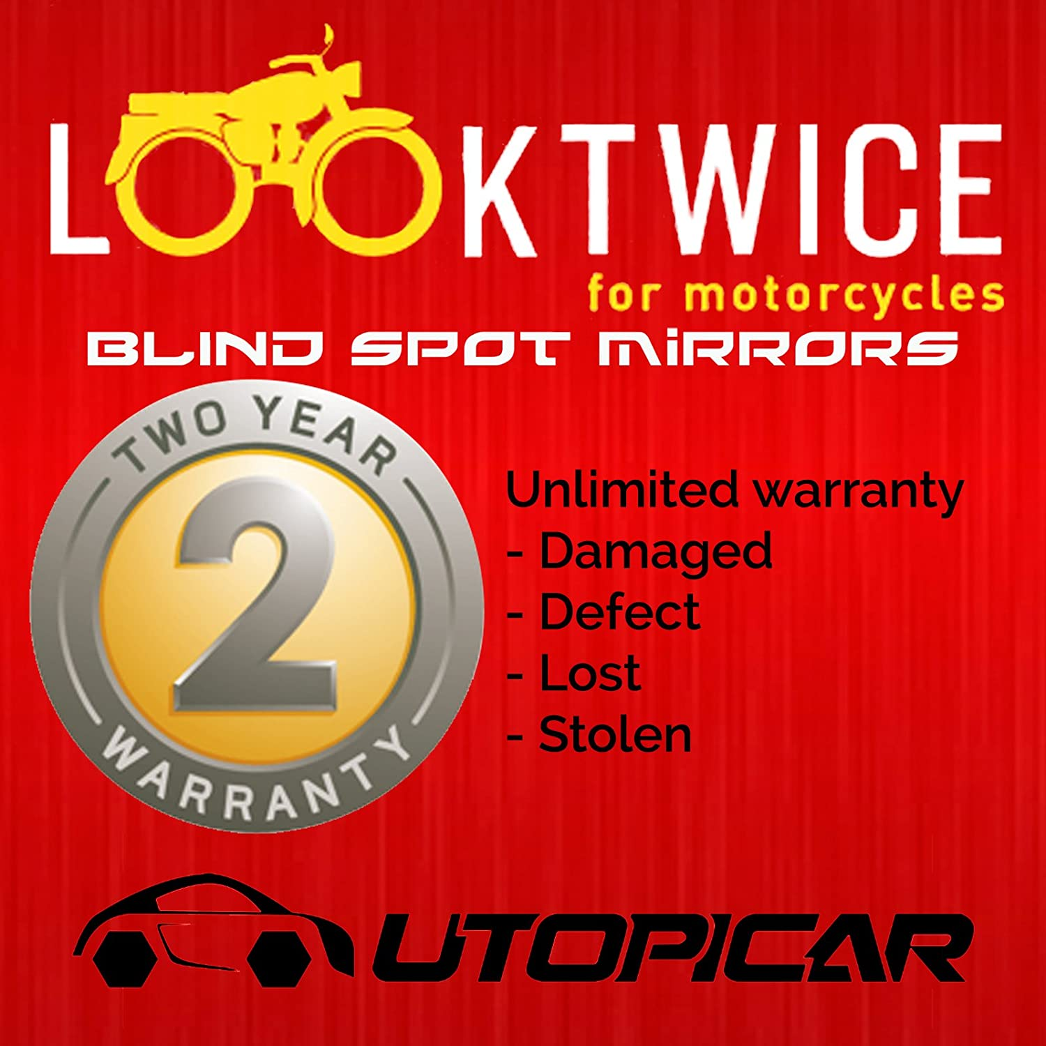 frameless, stick-on design 2 pack Blind Spot Mirrors Unique design Car Mirror for blind side // Door mirrors engineered by Utopicar for larger image and traffic safety Awesome rear view!