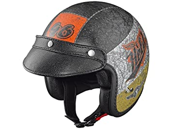 Held Black Bob Diseño Crushed Moto Casco