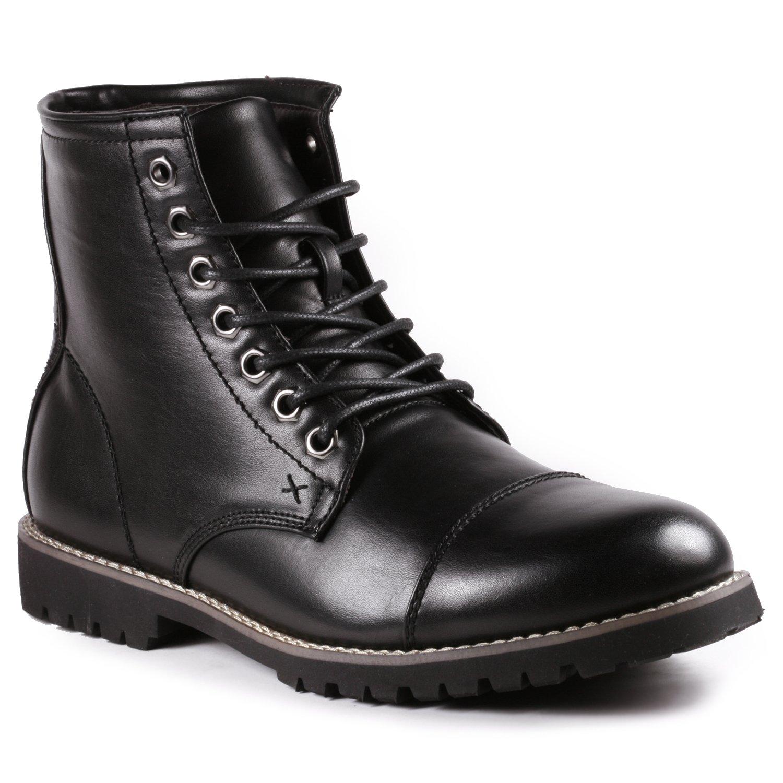 Metrocharm MC301 Men's Lace up Cap Toe Formal Dress Casual Fashion Boots (9 D(M) US, Black) by Metrocharm