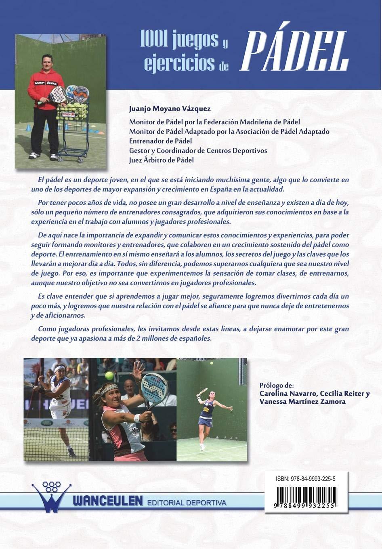 1001 Juegos Y Ejercicios De Pádel (Spanish Edition): Juan José Moyano Vázquez: 9788499932255: Amazon.com: Books
