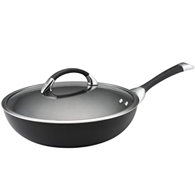 Circulon Symmetry Hard-Anodized Nonstick Covered Essential Pan, 12–Inch, Black