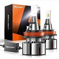 $46 » SEALIGHT H11/H8/H9 LED Headlight Bulbs 15000lm, Laxmas L2 Series Low Beam/Fog…