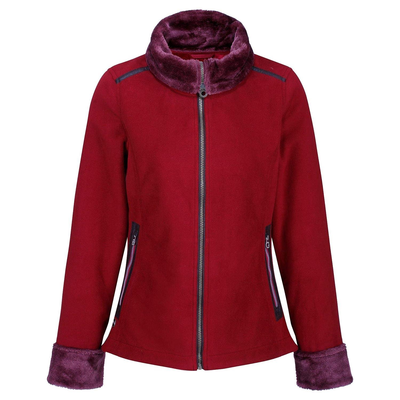 Regatta Womens Benedetta High Pile Fur Leatherette Trim Micro Fleece